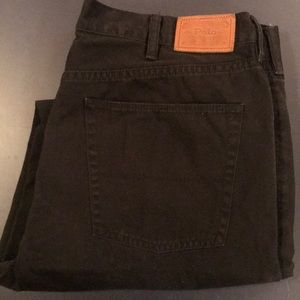 Men's Ralph Lauren Polo Black Pants, Size 38W 32L